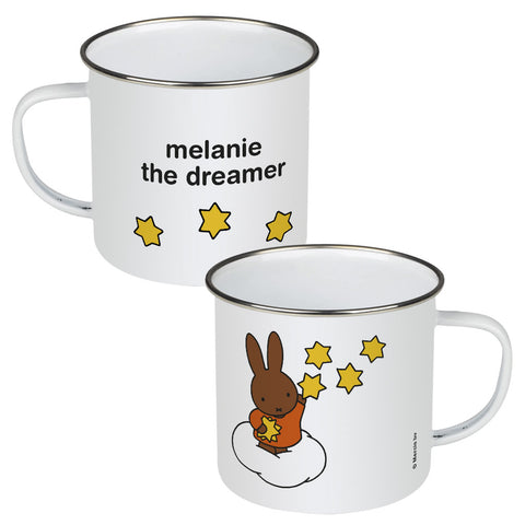 melanie the dreamer Personalised Enamel Mug