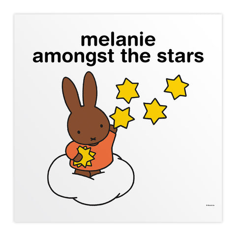 melanie amongst the stars Personalised Square Print