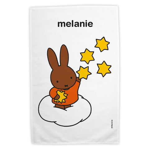 Starry Melanie Personalised Tea Towel