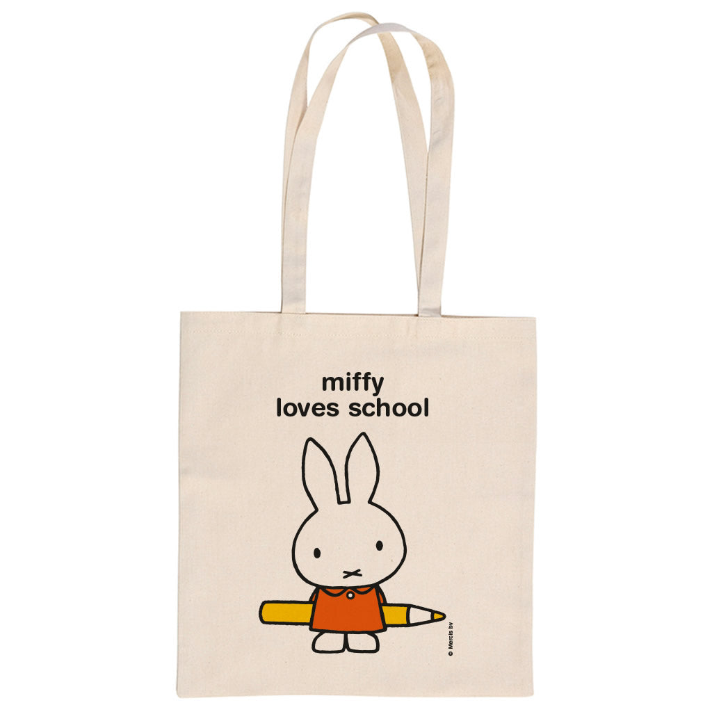 miffy loves school Personalised Tote Bag