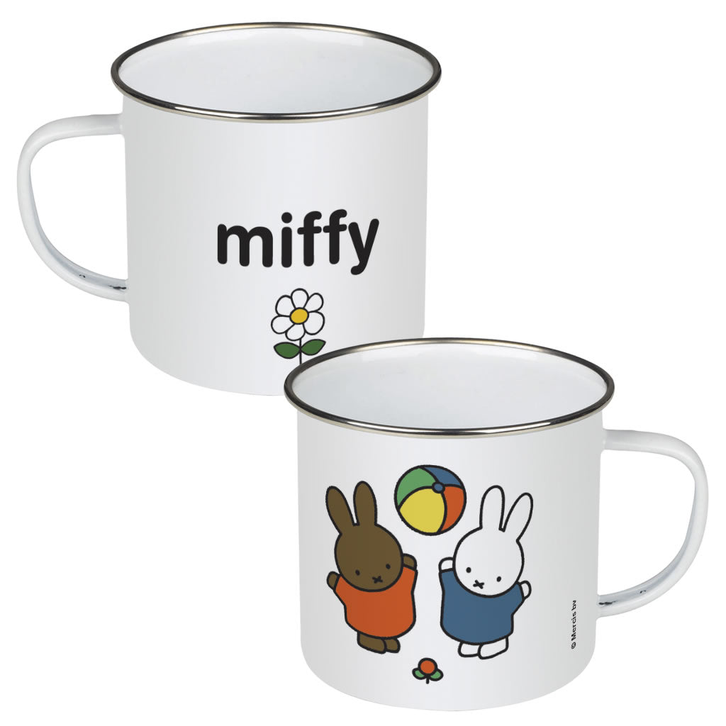 Miffy & Friends Playing Personalised Enamel Mug
