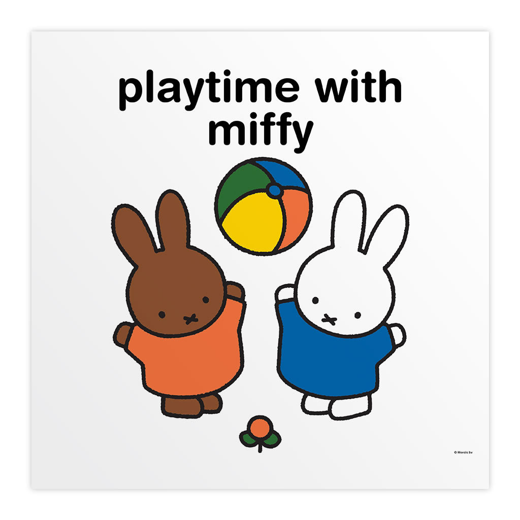 playtime with miffy Personalised Square Print