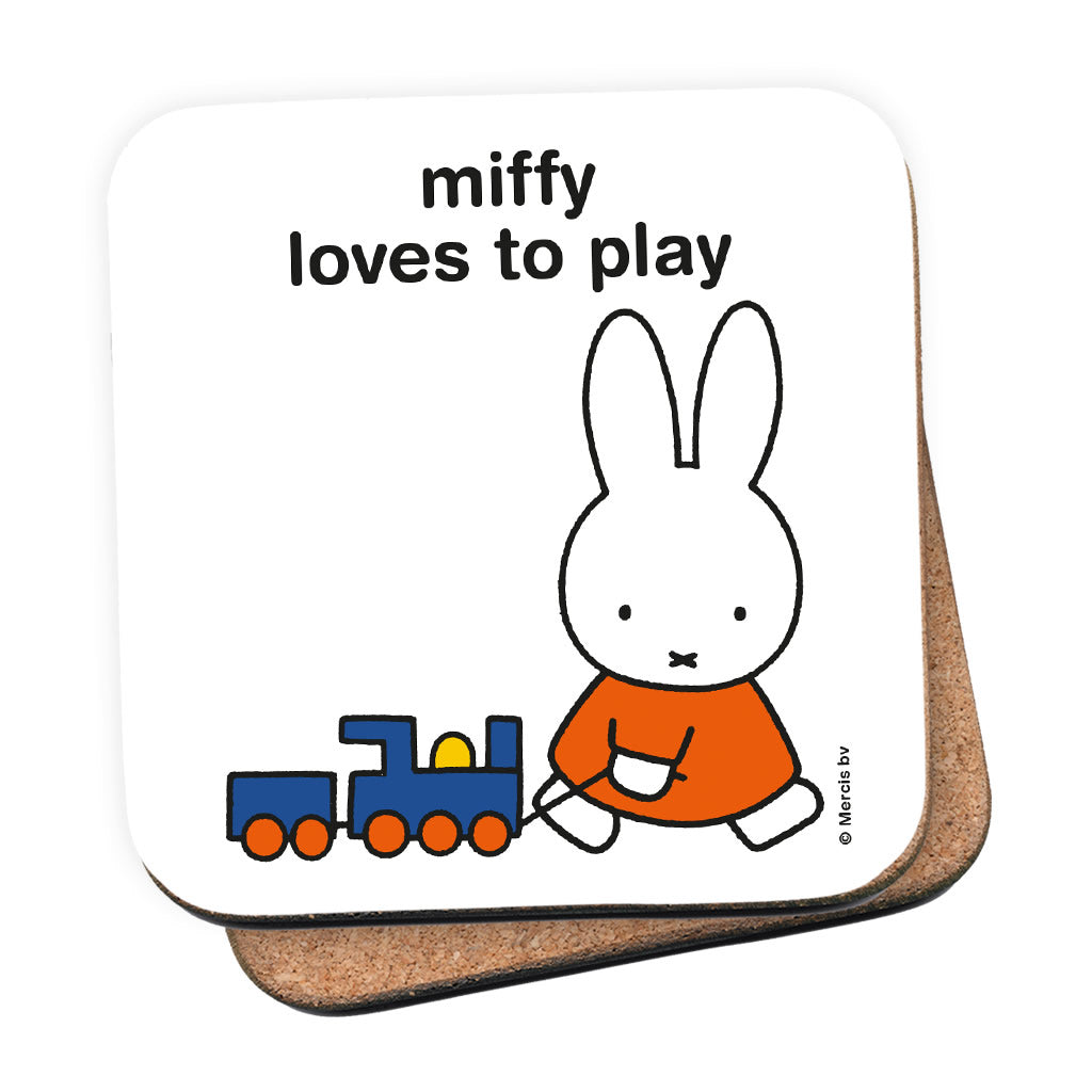 miffy loves to play Personalised Coaster