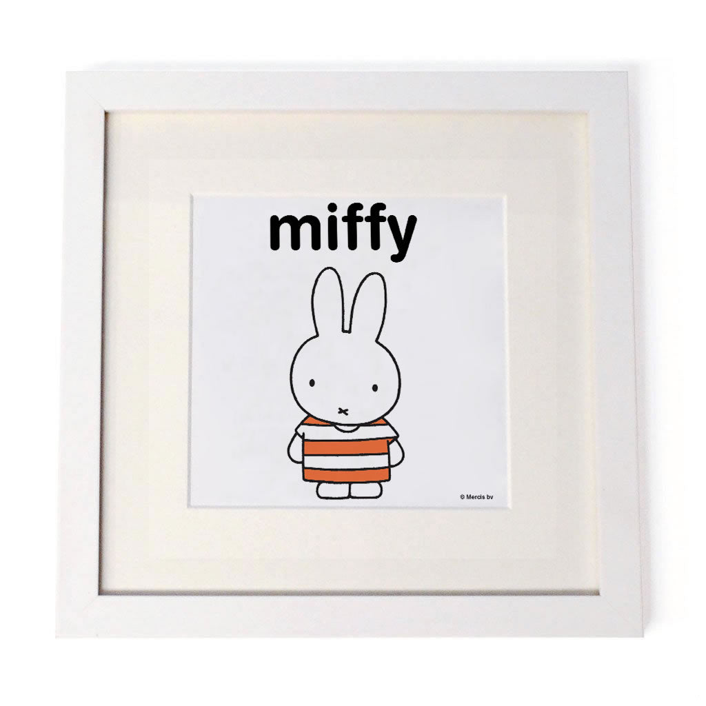 miffy Personalised White Framed Square Print