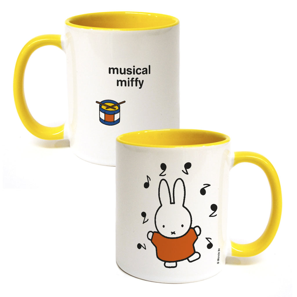 musical miffy Personalised Coloured Insert Mug