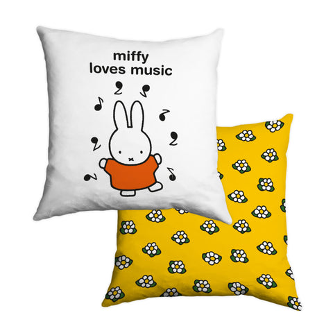 miffy loves music Personalised Cushion