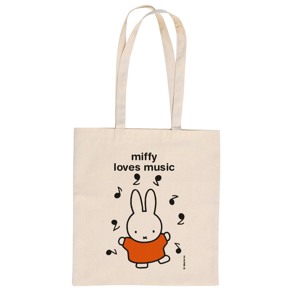 miffy loves music Personalised Tote Bag