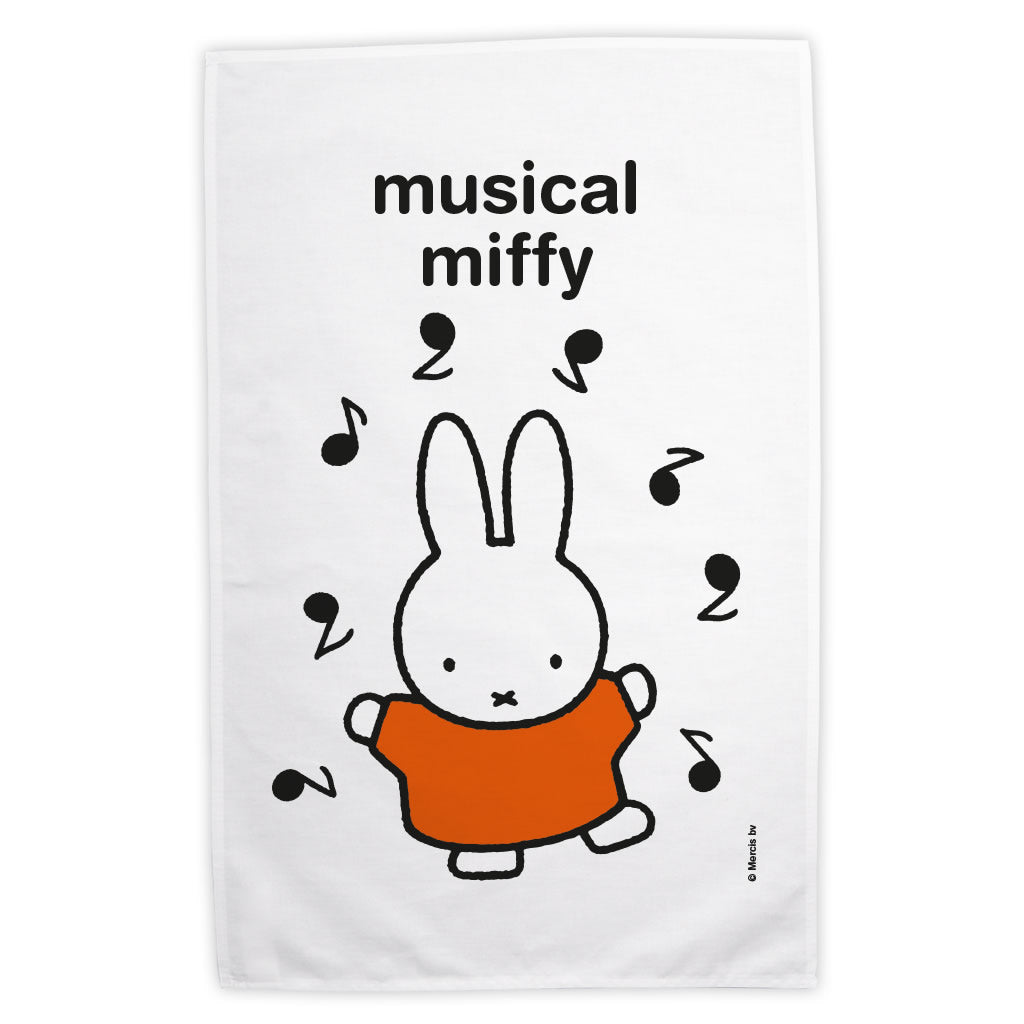 musical miffy Personalised Tea Towel