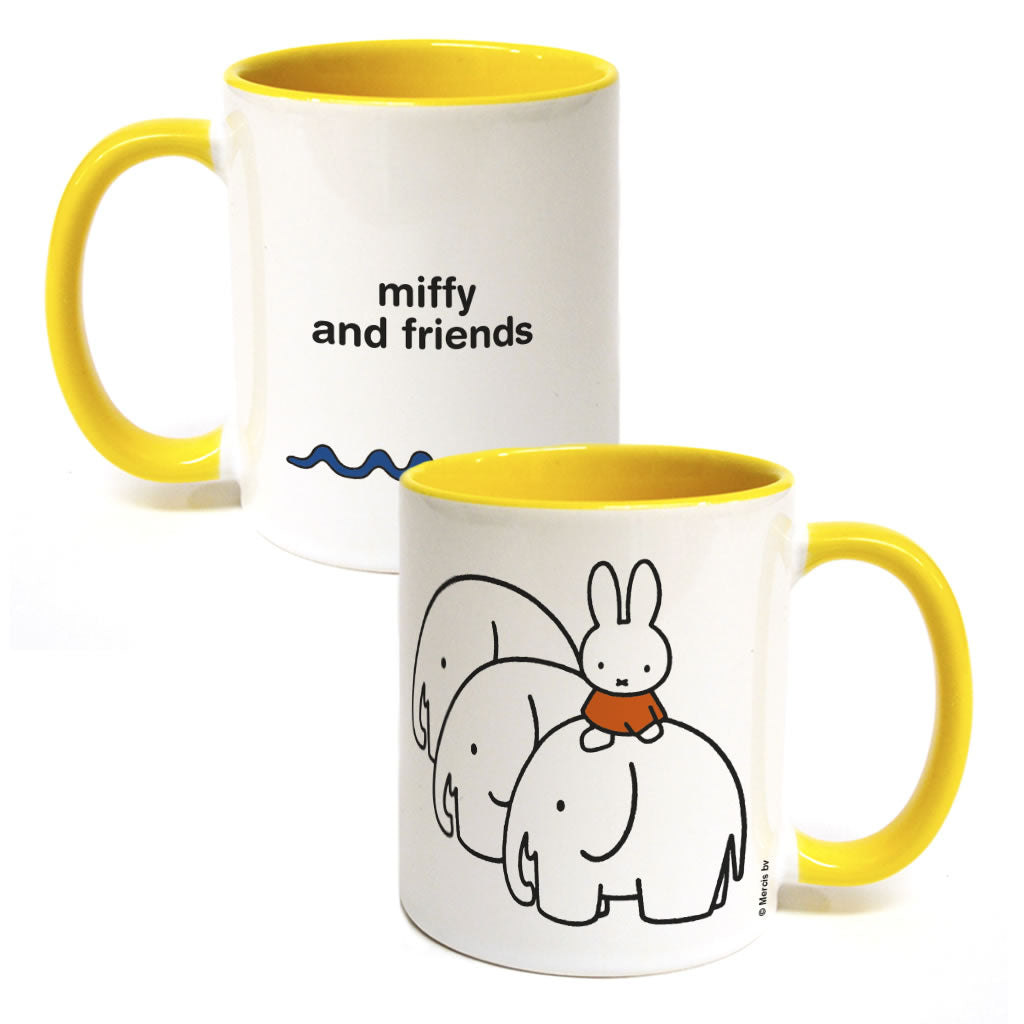 Miffy & Friends Elephants Personalised Coloured Insert Mug