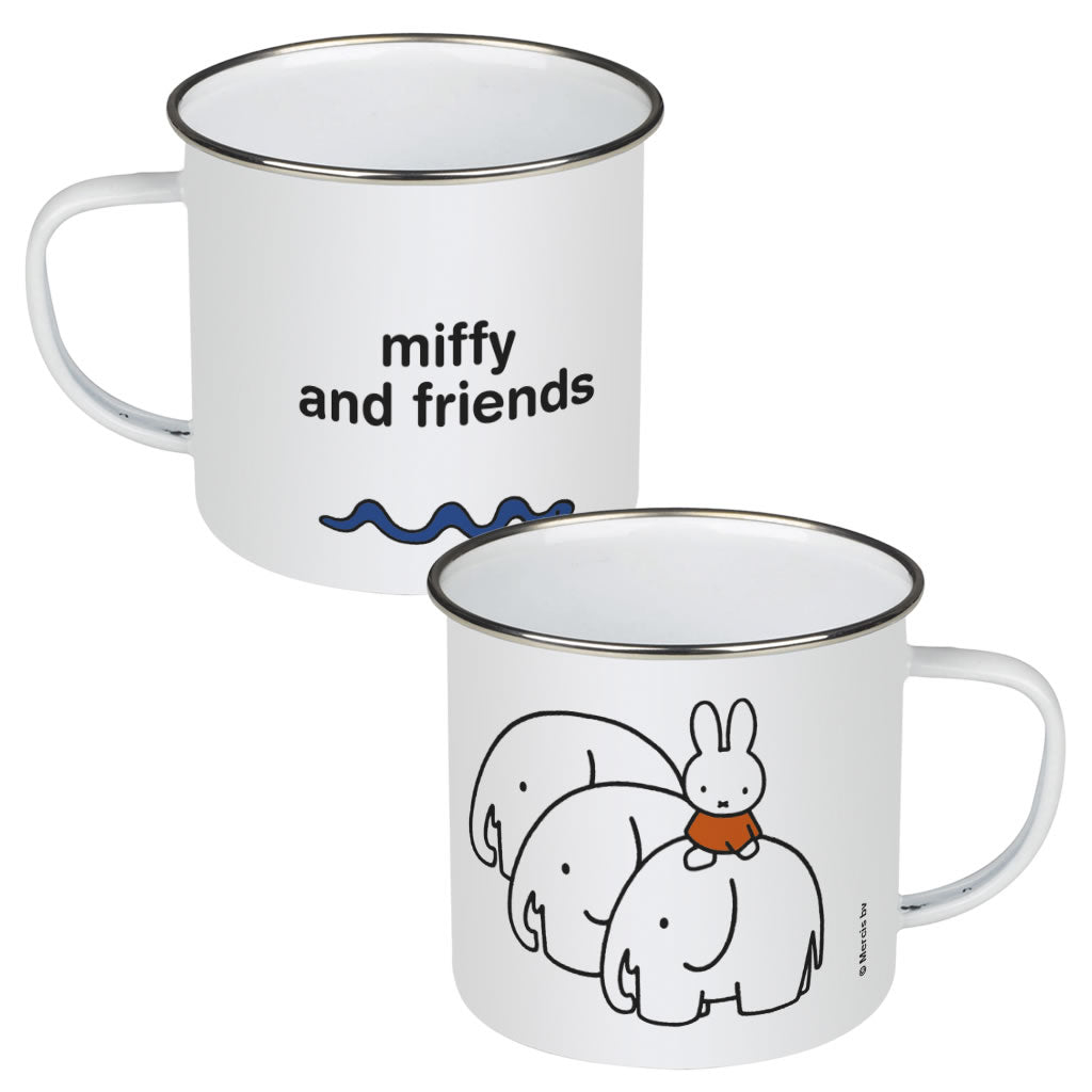 Miffy & Friends Elephants Personalised Enamel Mug