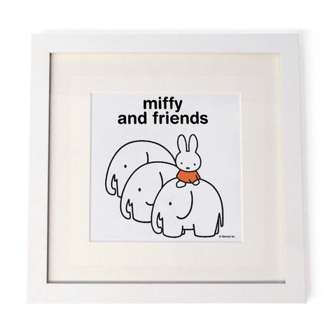 Miffy & Friends Elephants Personalised Square Print