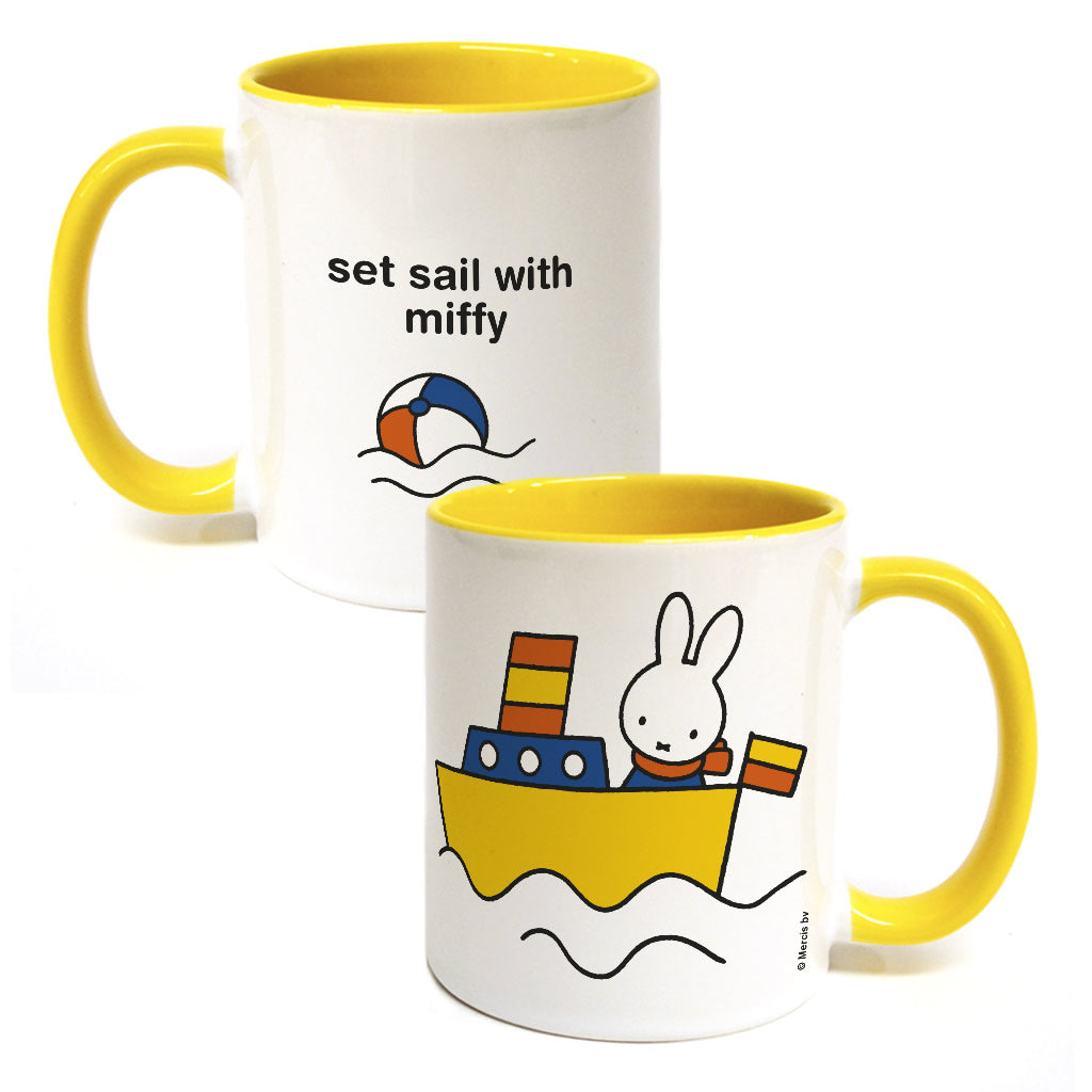 set sail with miffy Personalised Coloured Insert Mug