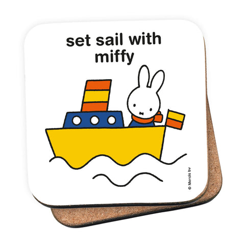 set sail with miffy Personalised Coaster