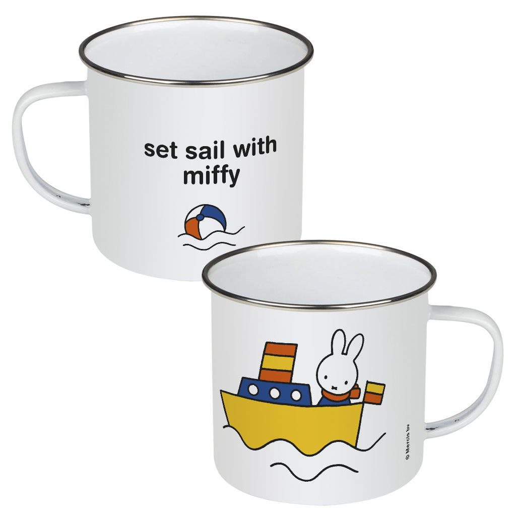 set sail with miffy Personalised Enamel Mug
