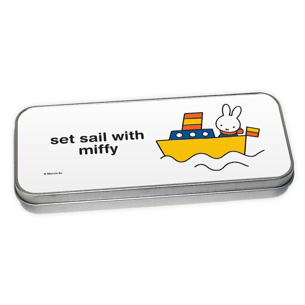 set sail with miffy Personalised Pencil Tin