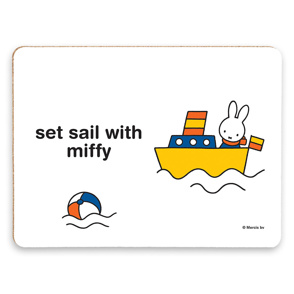 set sail with miffy Personalised Placemat