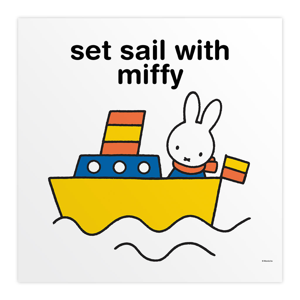 set sail with miffy Personalised Square Print