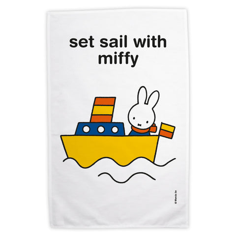 set sail with miffy Personalised Tea Towel