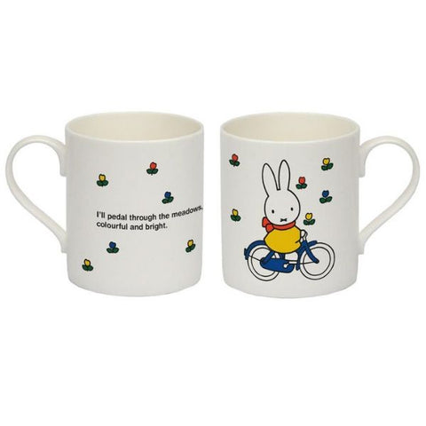 Miffy bicycle Bone China Mug