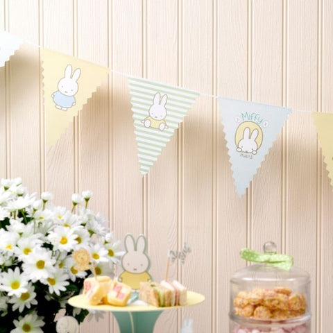 Miffy baby party bunting