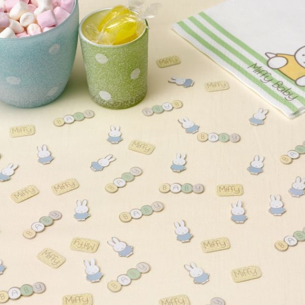 Miffy baby table confetti