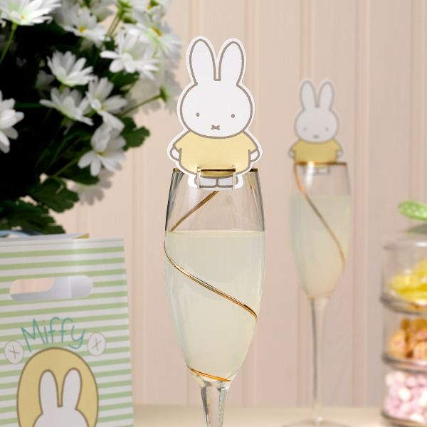 Miffy glass topper party decoration pack of 10