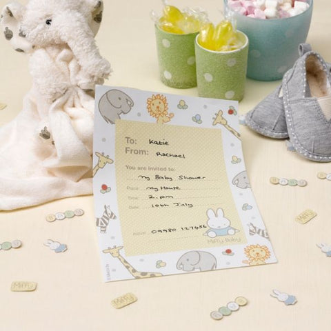 Miffy baby party invites - pack of 10