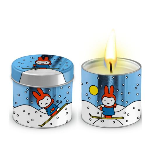 Miffy Tea Light Candle in a Wintry Tin