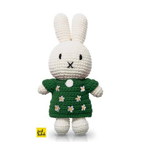 Miffy Handmade Crochet and her handmade green floral dress
