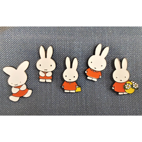 Limited Edition Miffy Evolution 65th Anniversary 5 Enamel Pin Set