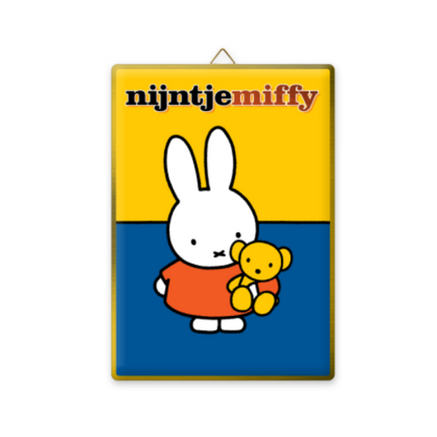 Miffy Gold Tone Metal Wall Sign