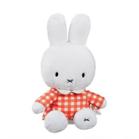 miffy orange check outfit plush