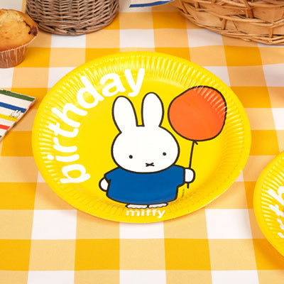 Miffy Birthday Plates - 8 Pack