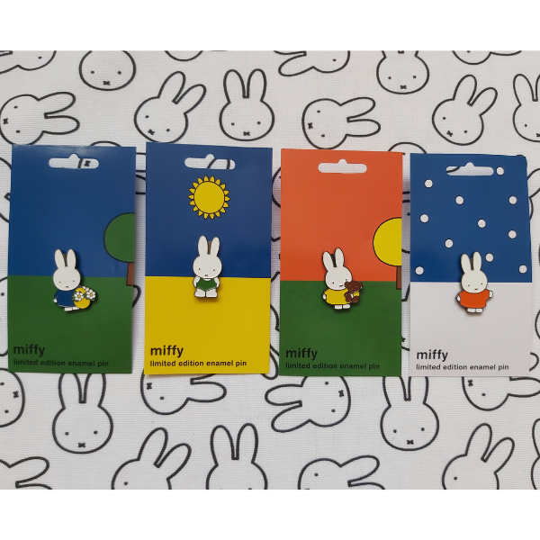 Limited Edition Miffy 65th Anniversary Enamel Pins - 4 Seasons