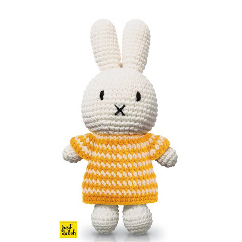 Miffy Handmade Crochet and her yellow dashed dress