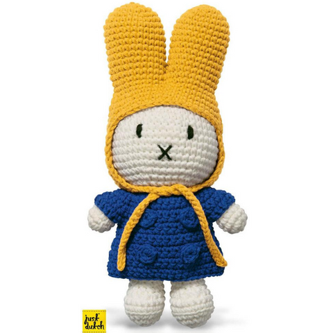 Miffy Handmade Crochet and her blue jacket and yellow hood