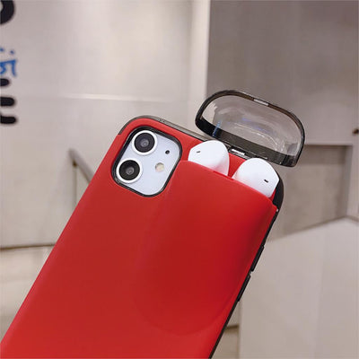 2-in-1 iPhone Airpod Protective Case