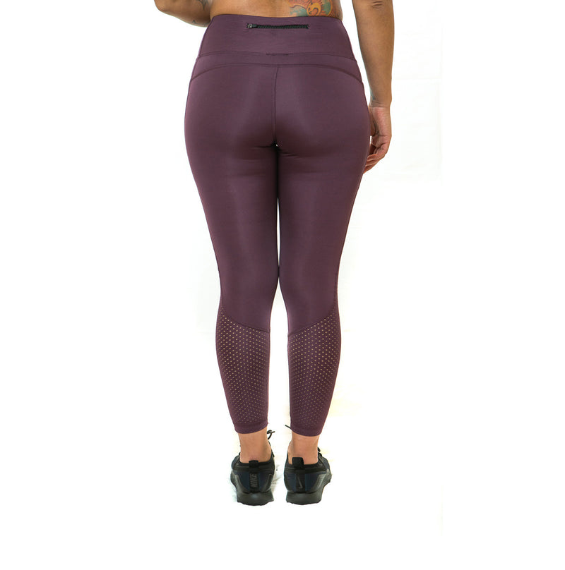THE STUNNER - MESH DETAIL LEGGING (RASPBERRY)