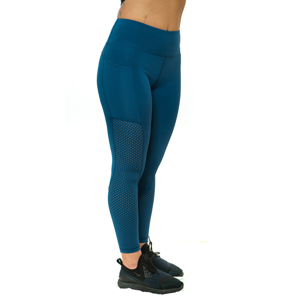 THE STUNNER - MESH DETAIL LEGGING (BLUE)