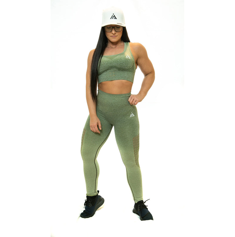 THE IRON PEACH SPORTS BRA (Army Green)