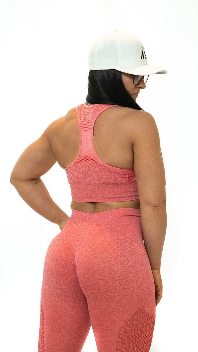 THE IRON PEACH SPORTS BRA (Coral)