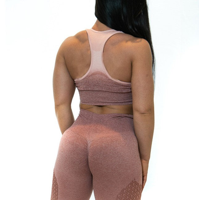 THE IRON PEACH SPORTS BRA (Rose)