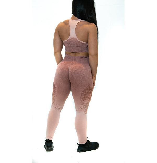 THE IRON PEACH SCRUNCH LEGGINGS (ROSE)