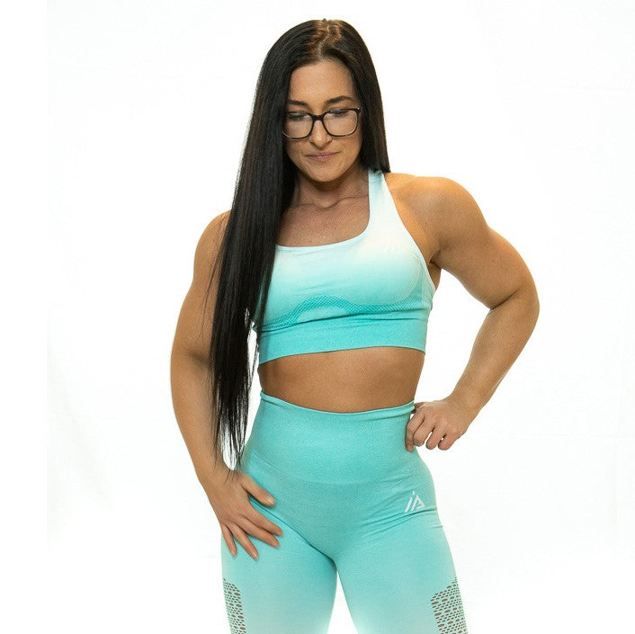 THE IRON PEACH SPORTS BRA (Teal)
