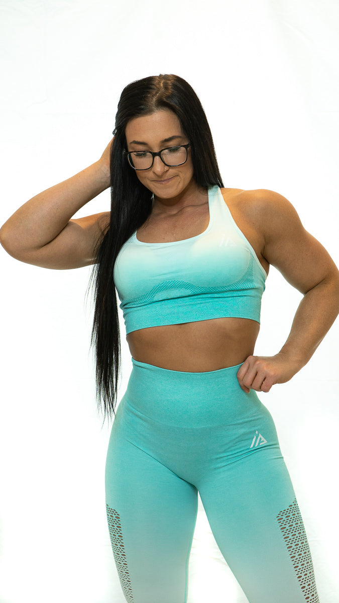 THE IRON PEACH SCRUNCH LEGGINGS (Teal)
