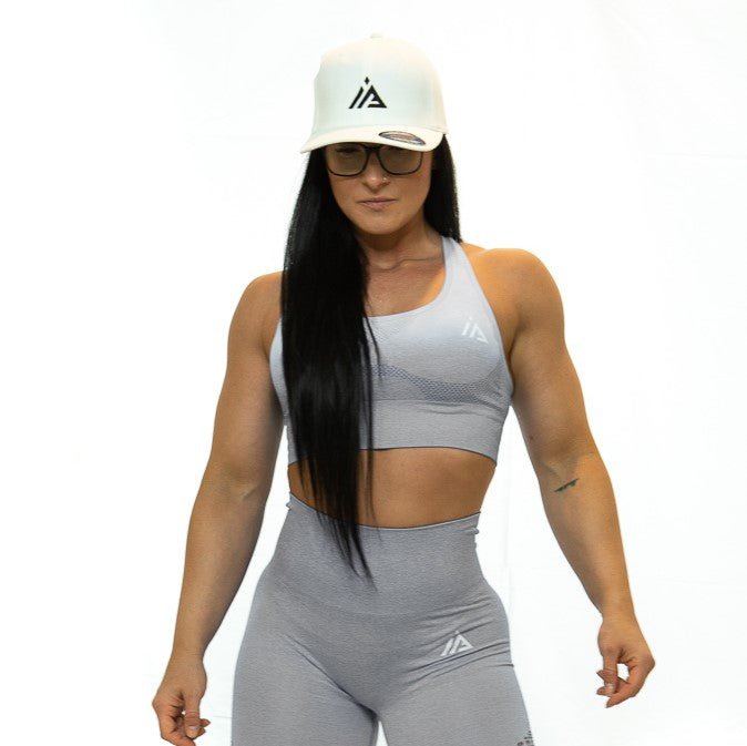 THE IRON PEACH SPORTS BRA (Grey)