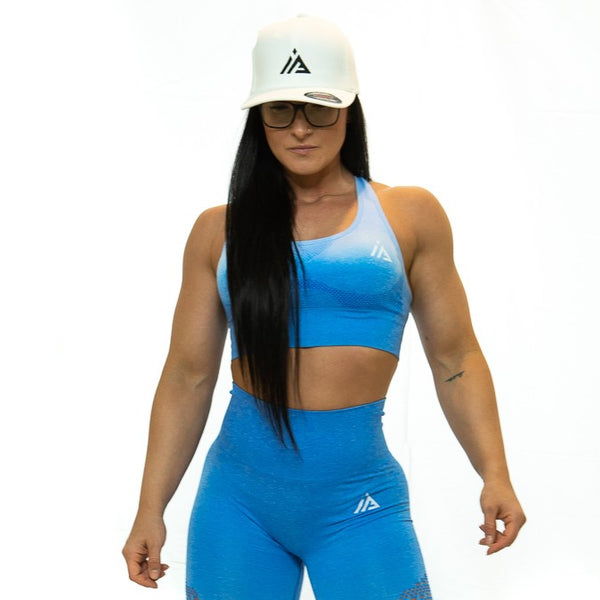 THE IRON PEACH SPORTS BRA (Blue)