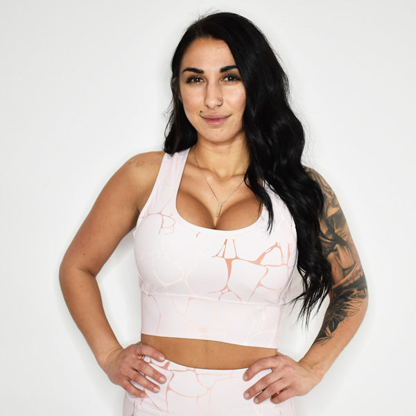 CLASSIC ANGEL SPORTS BRA TOP (Rose Quartz)