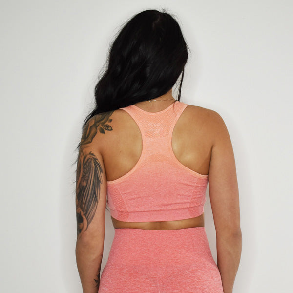 STANDOUT SEAMLESS SPORTS BRA (Sunset Ombre)