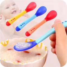 Load image into Gallery viewer, Silicone Baby Spoon